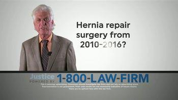 1-800-LAW-FIRM TV Spot, 'Hernia Repair Surgery'