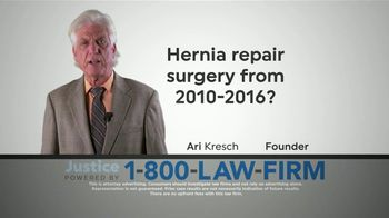 1-800-LAW-FIRM TV Spot, 'Hernia Repair Surgery'