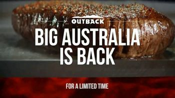 Outback Steakhouse Big Australia TV Spot, 'Biggest Entrees Ever'