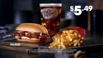 McDonald's McRib TV Spot, 'Answer the Call: Extra Value Meal' - Thumbnail 9