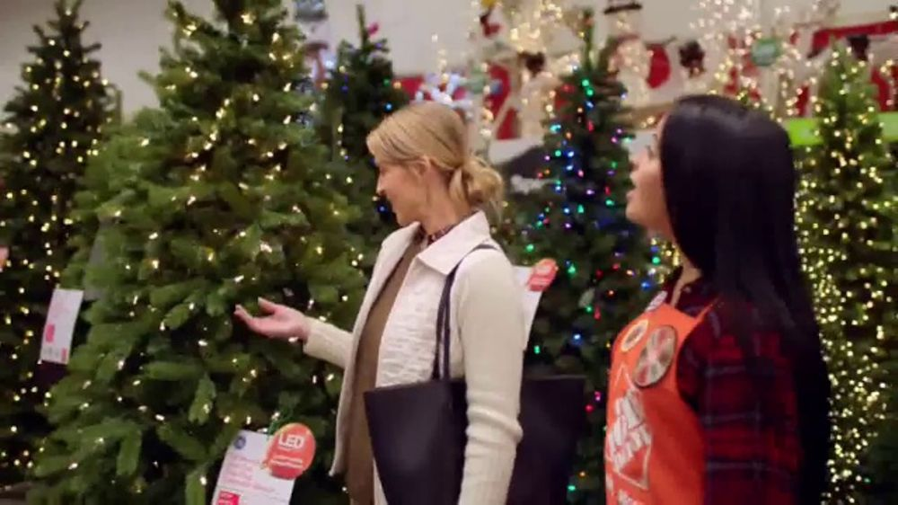 the home depot black friday savings tv commercial artificial christmas trees ispottv - Christmas Tree Black Friday