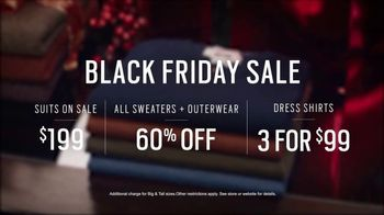 Men's Wearhouse Black Friday Sale TV Spot, 'Suits, Outwear & Dress Shirts' - 1399 commercial airings