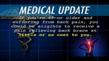 Pain Relief Hotline TV Spot, 'Medical Update: Pain-Relieving Back Brace'