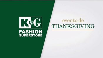 K&G Fashion Superstore Evento de Thanksgiving TV Spot, 'Trajes' [Spanish]