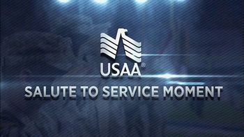 USAA TV Spot, 'Salute to Service: Thanksgiving Dinner' Ft. Larry Fitzgerald - Thumbnail 1
