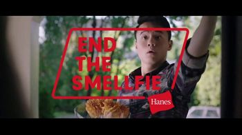 Hanes Fresh IQ TV Spot, 'End the Smelfie: Free Boxer Brief' - 933 commercial airings
