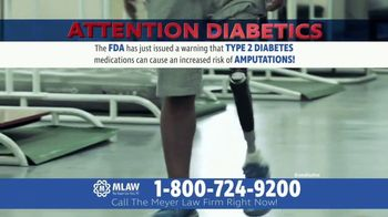 Meyer Law Firm TV Spot, 'Type 2 Diabetics With Amputations'