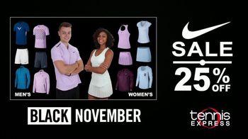Tennis Express Black November TV Spot, '25 Percent Off Nike Holiday'