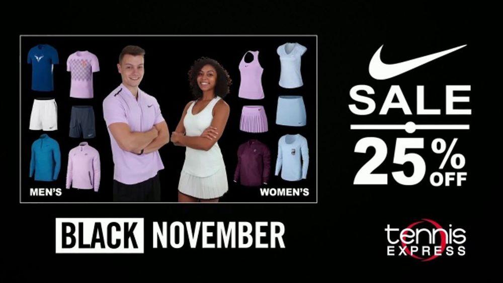 61a93646b57 Tennis Express Black November TV Commercial