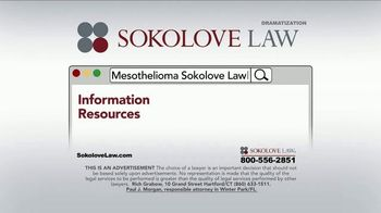 Sokolove Law TV Spot, 'Search Mesothelioma Sokolove Law' - Thumbnail 5