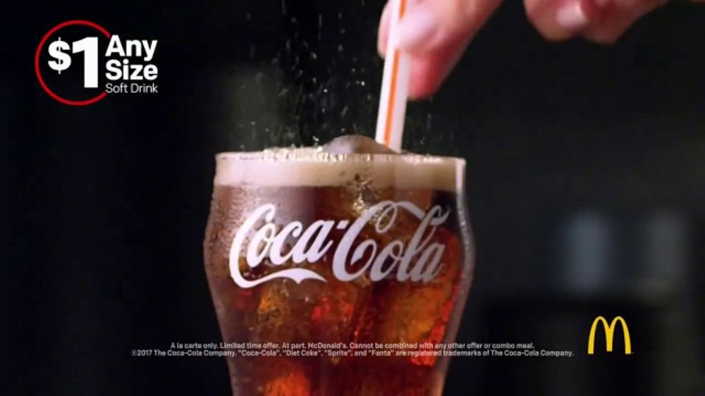 McDonald's $1 Any Size Soft Drinks TV Commercial, 'Shorter Days'