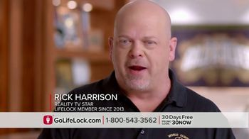 LifeLock TV Spot, 'Infomercial 3.1 - CTA' Featuring Rick Harrison - 4225 commercial airings