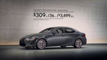 2017 Lexus IS 300 AWD TV Spot, 'Break Away' - Thumbnail 7