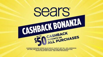 Sears Cashback Bonanza TV Spot, 'Kenmore Appliances' - Thumbnail 1