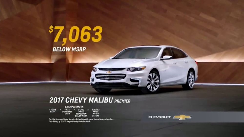 2017 Chevy Malibu Premier TV Commercial, \'Most Awarded: Long List ...