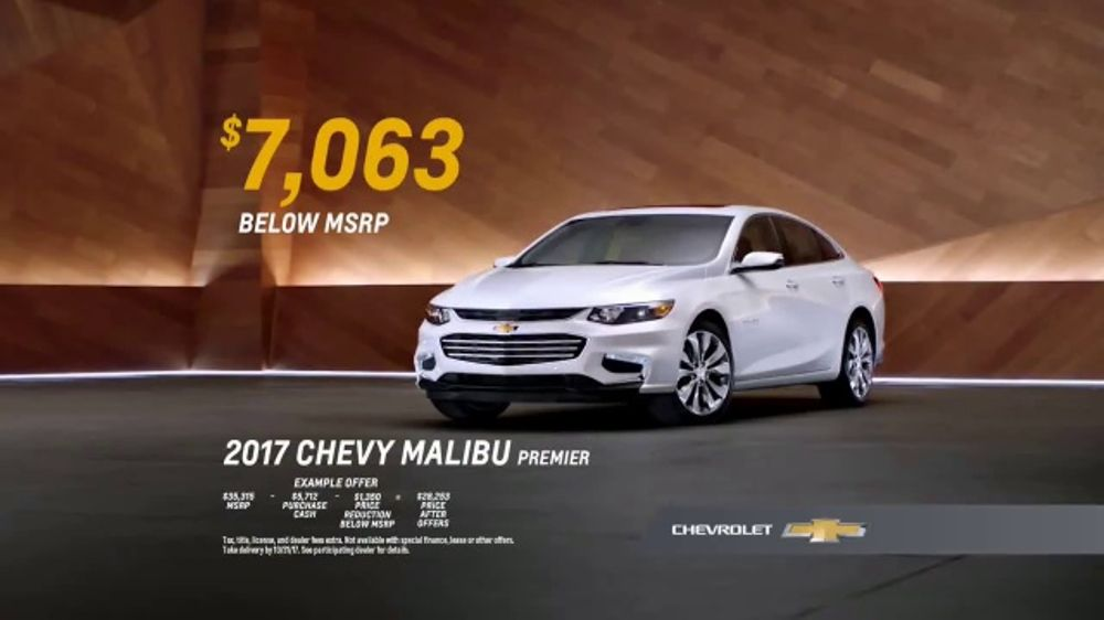2017 Chevy Malibu Premier TV Commercial, 'Most Awarded ...