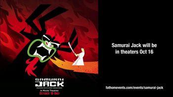 Fathom Events TV Spot, 'Adult Swim: Samurai Jack: Premiere Movie Event'