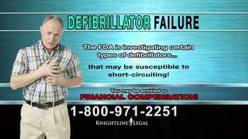 Knightline Legal TV Spot, \'Defibrillator Failure\'