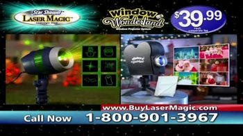 Star Shower Laser Magic TV Spot, 'For the Holidays' - Thumbnail 10