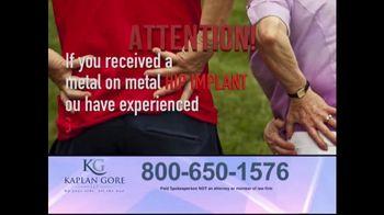 Kaplan Gore LLP TV Spot, 'Hip Implant'