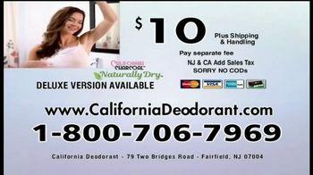 California Charcoal Naturally Dry Deodorant TV Spot, 'Keeps You Dry' - Thumbnail 9