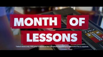 Guitar Center TV Spot, 'Portable Keyboard and Lessons' - Thumbnail 8