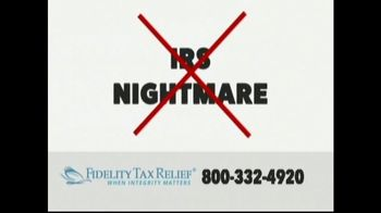 Fidelity Tax Relief IRS Fresh Start Program TV Spot, 'No Payments' - Thumbnail 1