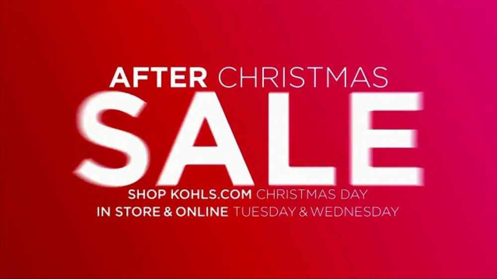 kohls after christmas sale tv commercial nows the time ispottv - Is Kohls Open On Christmas Day
