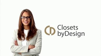 Closets by Design TV Spot, 'Organize Your Home' - Thumbnail 1