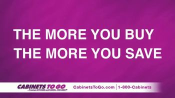 Cabinets To Go Buy More, Save More Sale TV Spot, 'Save $1000s' Ft. Bob Vila