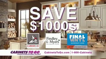 Cabinets To Go Buy More, Save More Sale TV Spot, 'Save $1000s' Ft. Bob Vila - 61 commercial airings