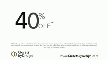 Closets by Design TV Spot, 'Transform Your Home' - Thumbnail 4