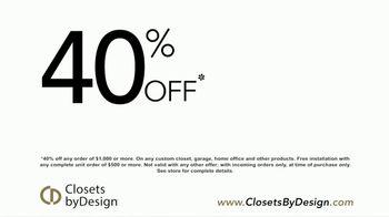 Closets by Design TV Spot, 'Transform Your Home' - Thumbnail 5