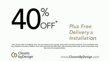 Closets by Design TV Spot, 'Transform Your Home' - Thumbnail 6