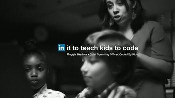 LinkedIn TV Spot, 'Maggie Deptola: In It to Teach Kids to Code' - Thumbnail 8