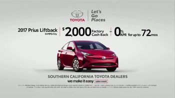 Toyota We Make It Easy Sales Event TV Spot, '2017 Prius' [T2] - Thumbnail 3
