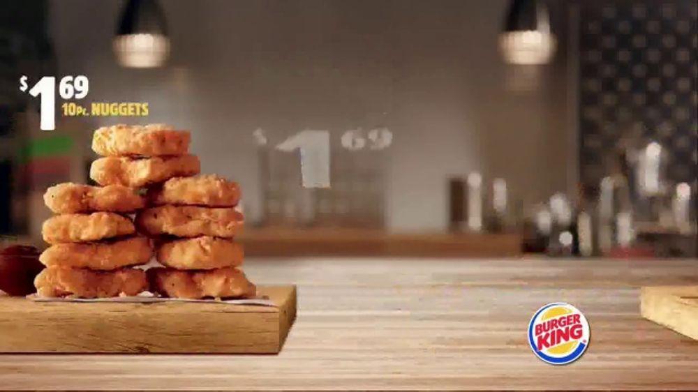 Burger King Savings Menu TV Commercial Cheeseburgers And Chicken Nuggets