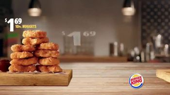 Burger King King Savings Menu TV Spot, 'Cheeseburgers and Chicken Nuggets'