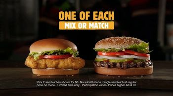 Burger King 2 for $6 Mix or Match TV Spot, 'Too Legit' - Thumbnail 9