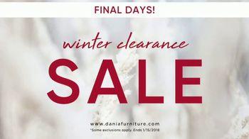 Dania Winter Clearance Sale TV Spot, 'Final Days' - Thumbnail 1