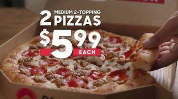 Pizza Hut 2 Medium 2-Topping Pizzas $5.99 Each TV Spot, 'Yes and Yes' - Thumbnail 8