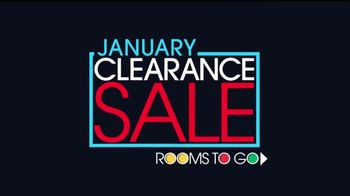 Rooms to Go January Clearance Sale TV Spot, 'Prepare to Save'