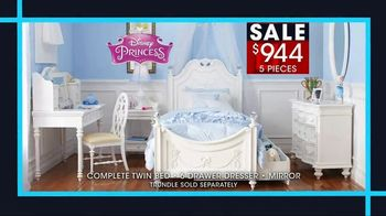 Rooms to Go January Clearance Sale TV Spot, 'Disney Princess Bedroom Set' - Thumbnail 4