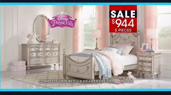 Rooms to Go January Clearance Sale TV Spot, 'Disney Princess Bedroom Set' - Thumbnail 5