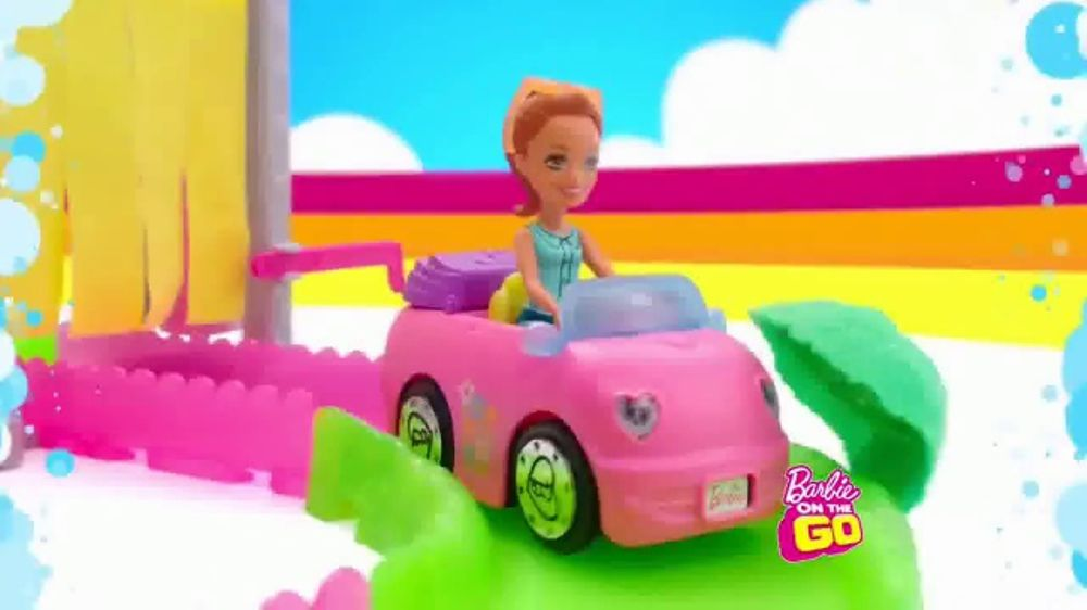 Barbie On The Go Car Wash Playset Tv Commercial Wash And Go