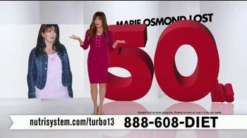 Nutrisystem Turbo 13 TV Spot, 'Weighing You Down' Featuring Marie Osmond - Thumbnail 4