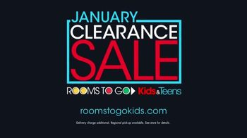 Rooms to Go Kids January Clearance Sale TV Spot, 'Twin Bookcase Bed' - Thumbnail 9