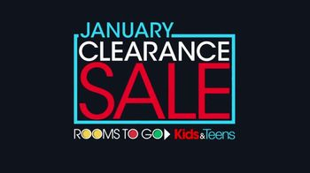 Rooms to Go Kids January Clearance Sale TV Spot, 'Twin Bookcase Bed' - Thumbnail 1