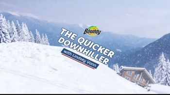 Bounty TV Spot, 'The Quicker Downhiller' Featuring Lindsey Vonn - Thumbnail 1