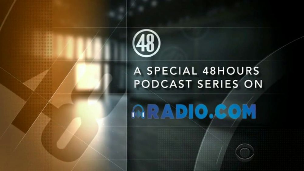radio com 48 hours podcast series tv commercial cbs the widow